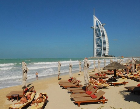 Am Strand in Dubai